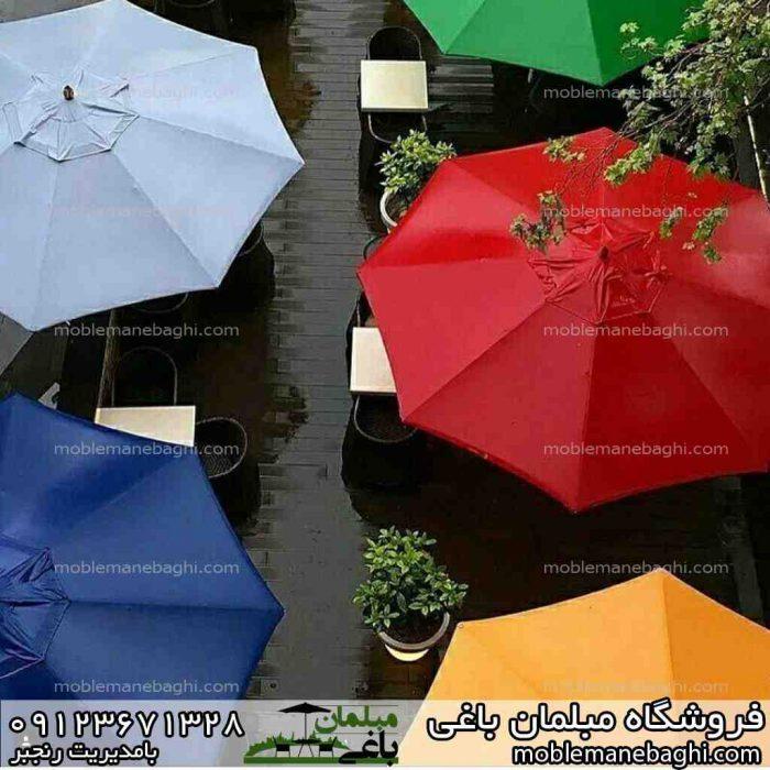 چتر و سایبان باغی تنوع زنگ های زیبا زیر باران