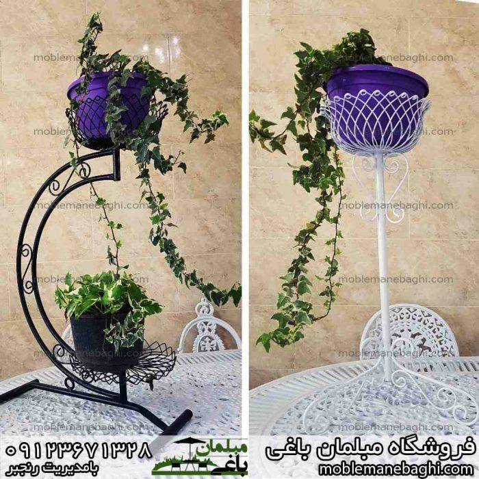 گلدان سمت راست تک شاخه سمت چپ دو شاخه مناسب ویلا و باغ و آپارتمان
