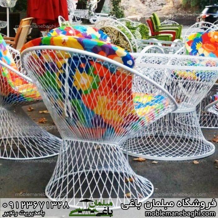 مبلمان باغی میز و صندلی بامبو مناسب باغ و ویلا