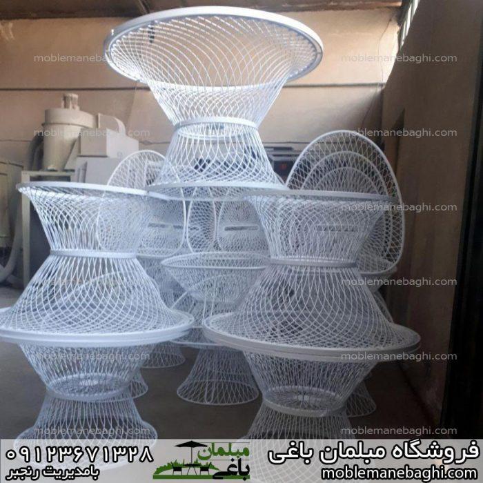 مبلمان باغی میز و صندلی بامبو مناسب باغ و ویلا کارگاه تولیدی