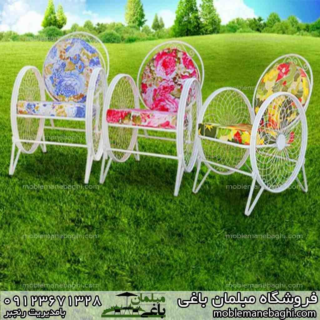 میز و صندلی کالسکه ای مناسب باغ و ویلا