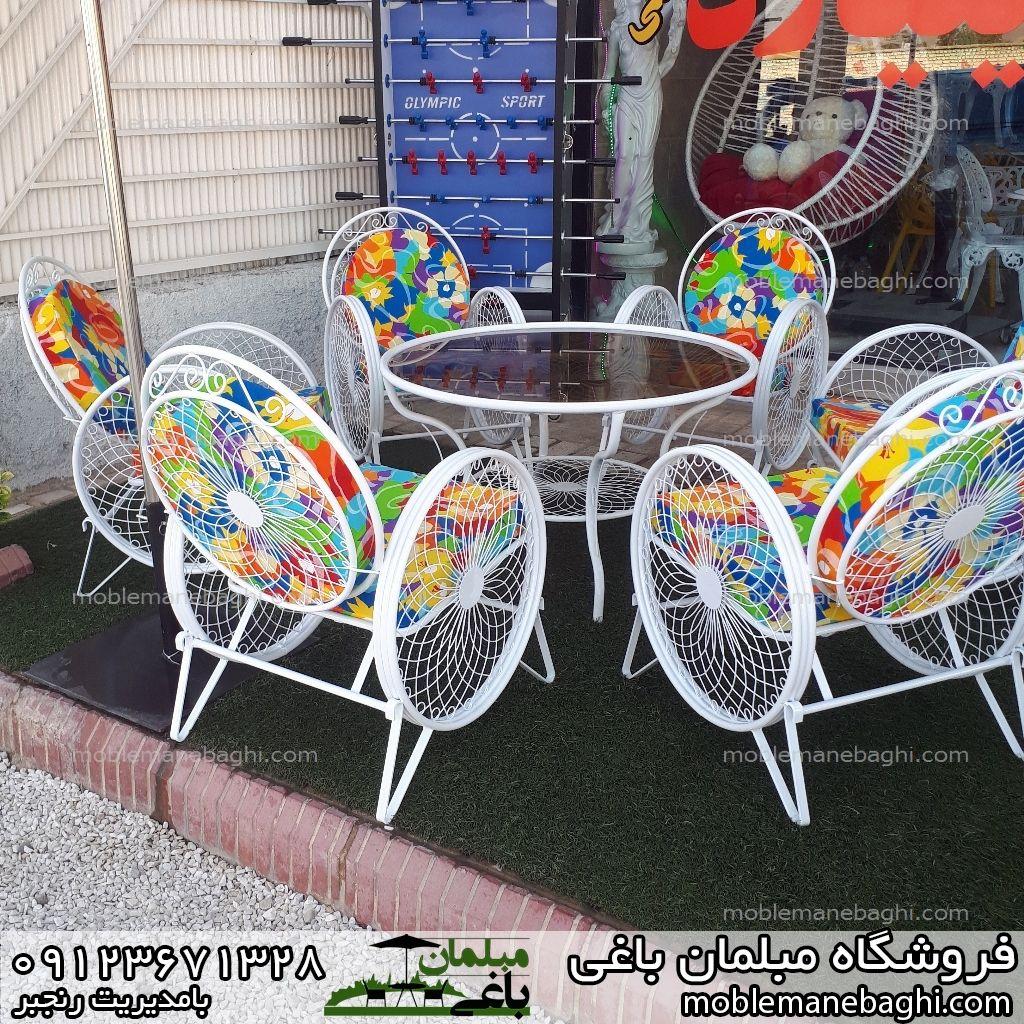 مبلمان باغی میز و صندلی کالسکه ای
