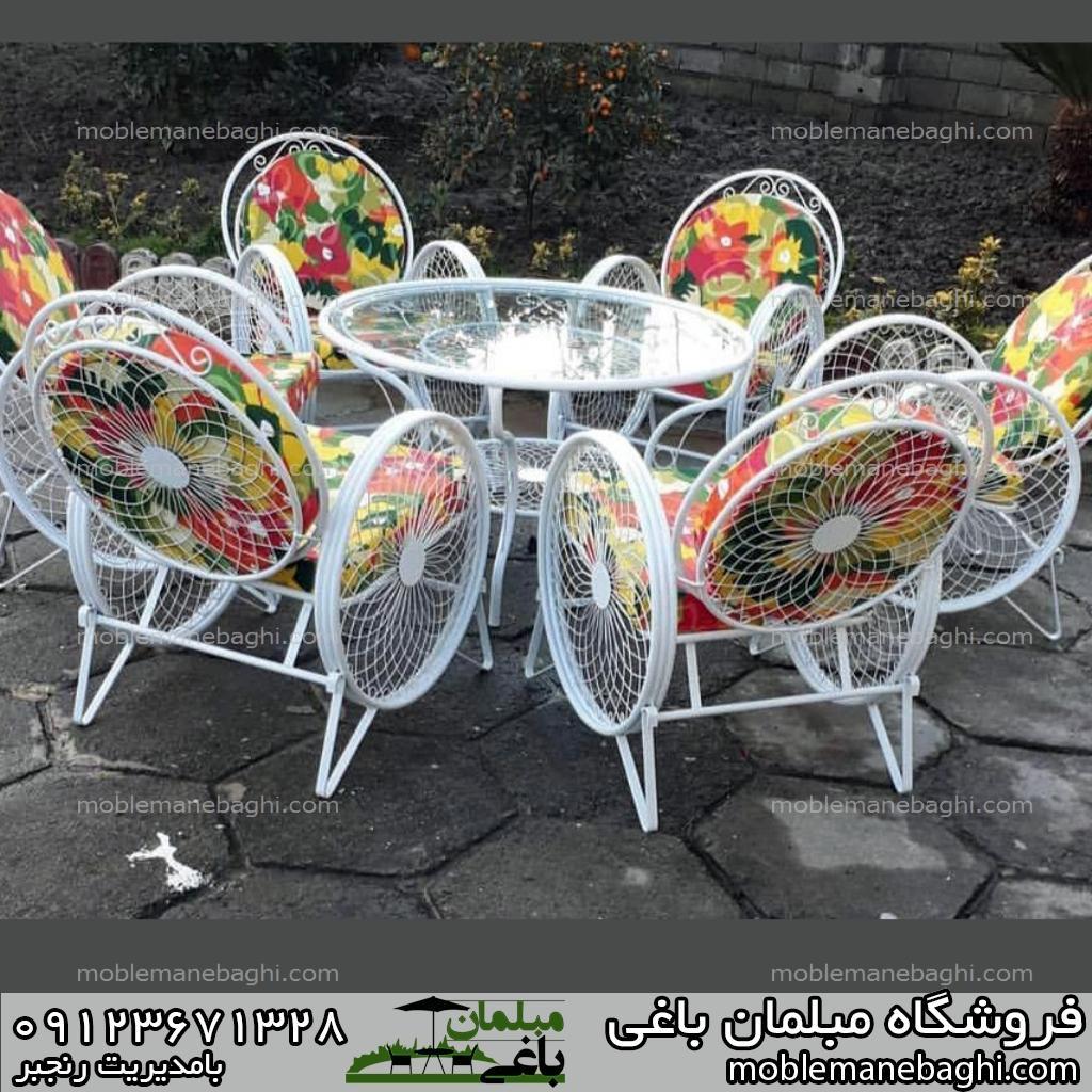 مبلمان باغی شش نفره میز و صندلی کالسکه ای