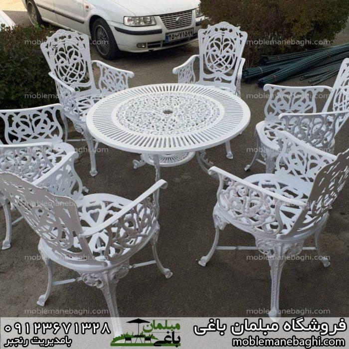 میز و صندلی مرغابی رنگ سفید