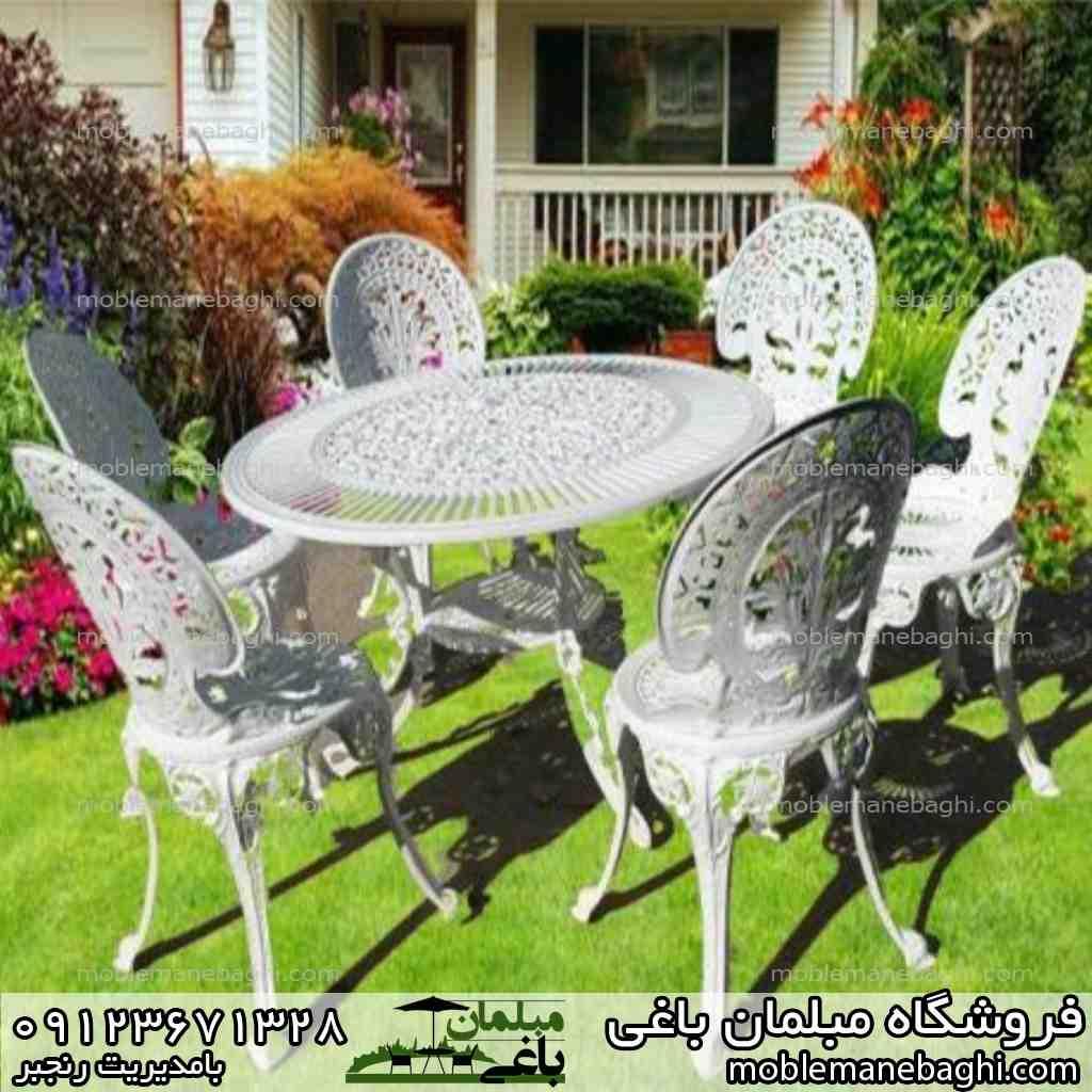 میز و صندلی طاووسی مدل شش نفره