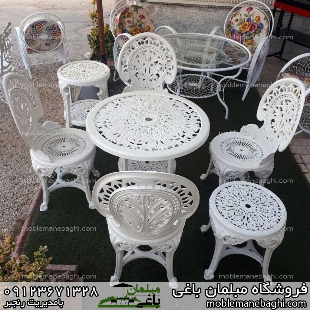 مبلمان باغی میز و صندلی طاووسی پلاستیکی