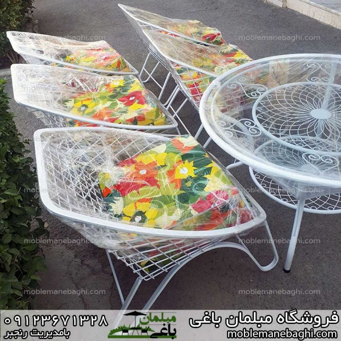 ست میزوصندلی باغی مهتاب پنج نفره آماده ارسال به سراسر ایران