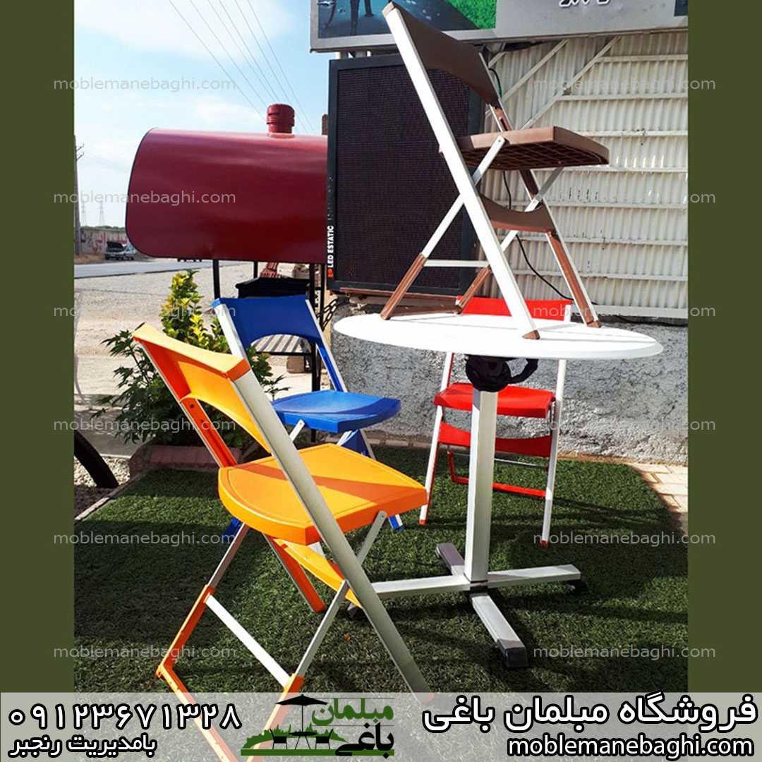 صندلی مسافرتی تاشو آلومینیومی در رنگ بندی های زیبا بسیار مقاوم و لاکچری