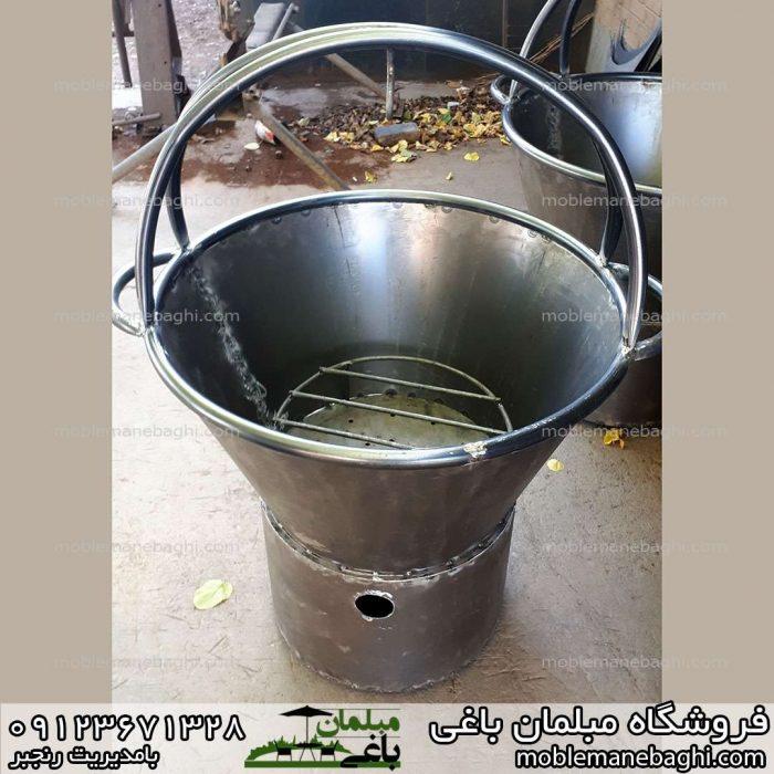 سطل آتشدان مناسب دورهمی ویلا و باغ و آلاچیق آماده رنگ آمیزی