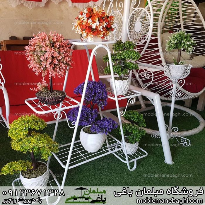 جاگلدانی یا فلاورباکس مدل کتابی یا هشتی با شش شاخه گل