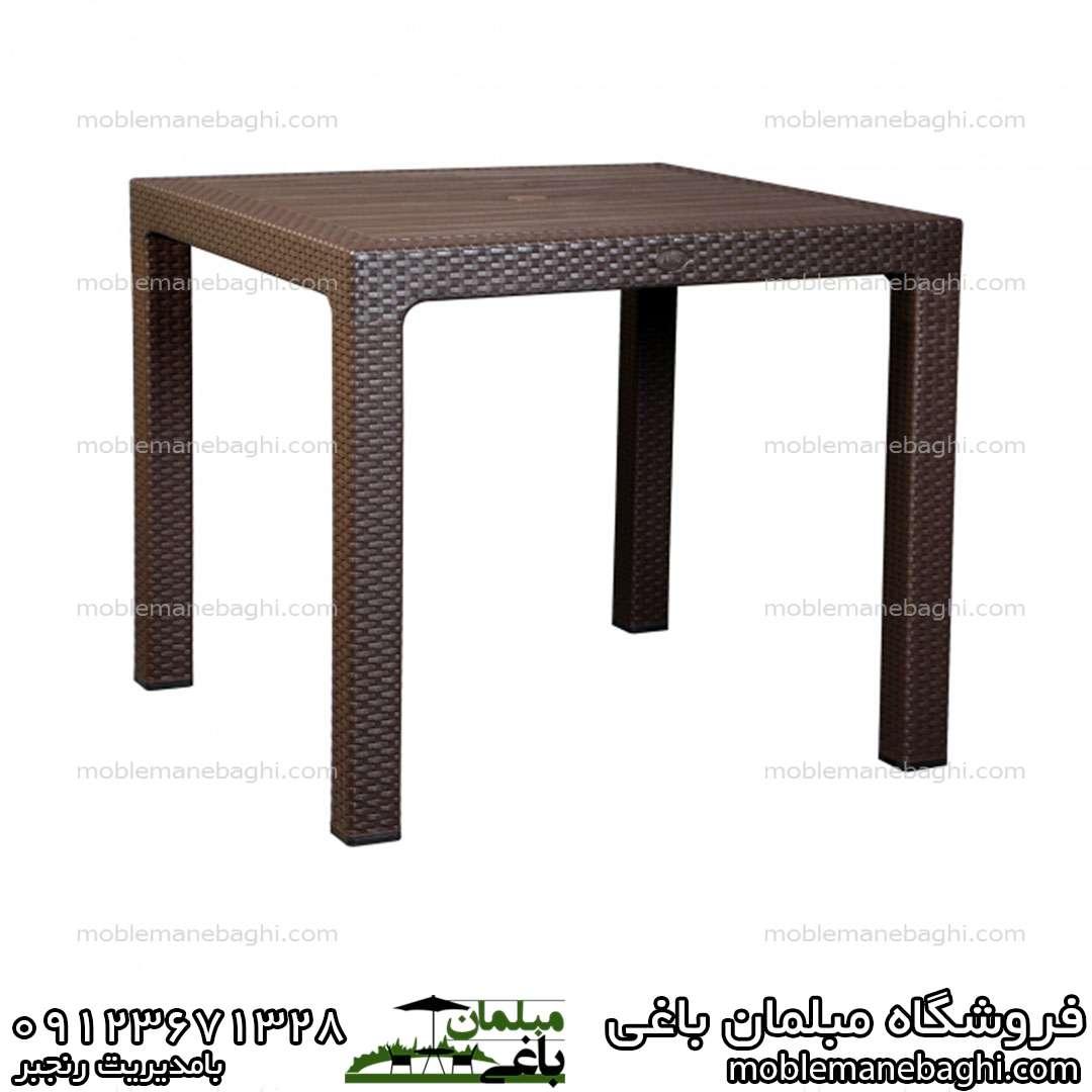 میزحصیری کد 323 ناصر پلاستیک چهارنفره مخصوص رستوران کافی شاپ فضای باز
