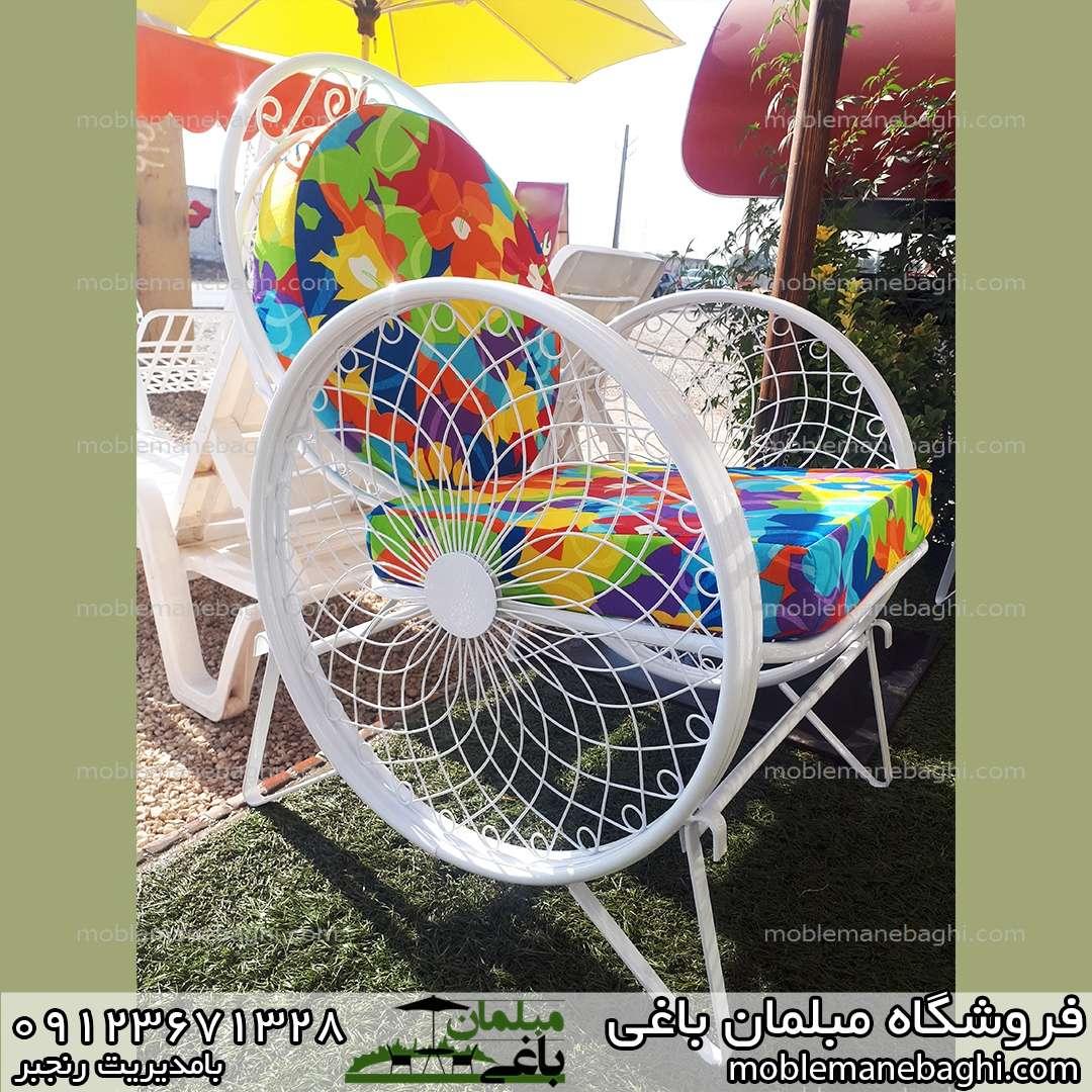 صندلی ویلایی فلزی مدل گلبرگ یا کالسکه ای قیمت مناسب درجه یک بسیار با کیفیت