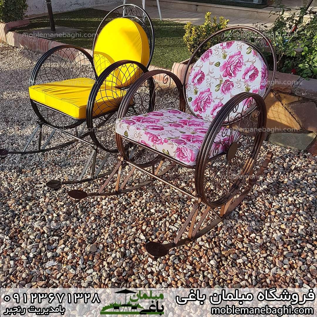 صندلی گهواره ای یا راک در دو مدل مناسب فضای باز و ویلا آرامبخش و راحت با پارچه ضد آب