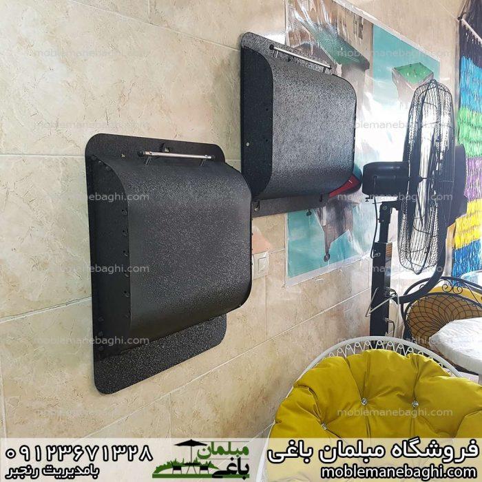 منقل و باربیکیو دیواری تاشو مناسب آپارتمان تراس کم جا و قیمت مناسب