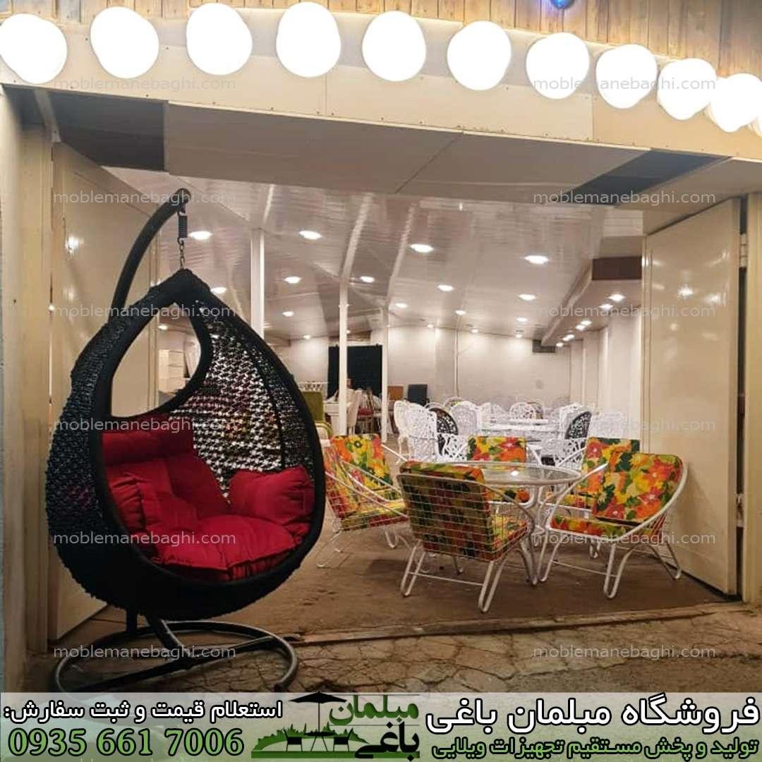 صندلی ریلکسی مدل plp رنگ مشکی بسیار شیک مخصوص کنار استخر و فضای باز بسیار شیک و لاکچری