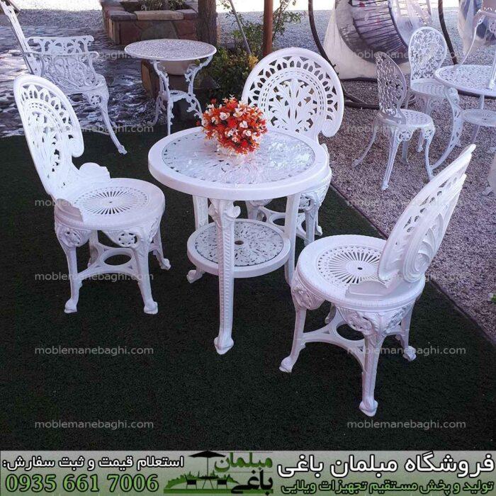 مبلمان پلیمری مدل طاووسی مناسب فضای باز ست سه نفره شیک قیمت مناسب مخصوص ویلا و باغ لاکچری با قیمت مناسب و کیفیت بالا صندلی پلیمری طاووسی