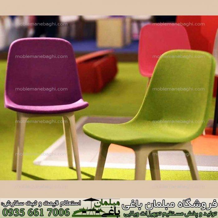 صندلی بابل مدل تیکا از جنس پلیمر درجه یک مناسب ویلا و تراس آپارتمان در رنگ سبز و زرشکی و سایر رنگبندی متنوع و زیبا با قیمت مناسب