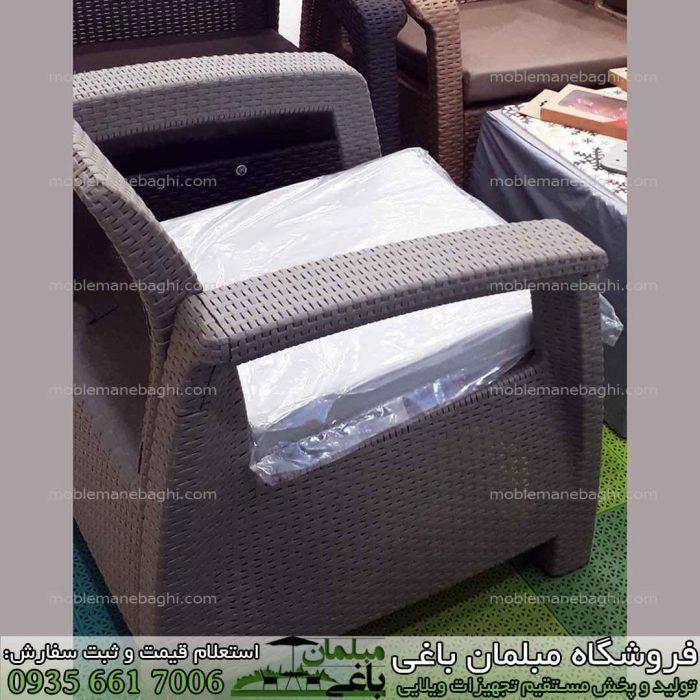 صندلی حصیری بابل رنگ قهوه ای در مرکز بورس و پخش عمده صندلی حصیری بابل مدل مبل حصیری پلیمری رنگ بندی متنوع و قیمت مناسب و کیفیت بالا