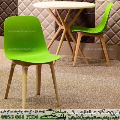صندلی پلیمری تیکا رنگ سبز به همراه میز پلیمری تیکا برند معتبر بابل با رنگ سفید استخوانی مدل گرد سایز دونفره میز و صندلی پلیمری تیکا بسیار باکیفیت و قیمت مناسب برای ویلا و آپارتمان و رستوان و کافی شاپ