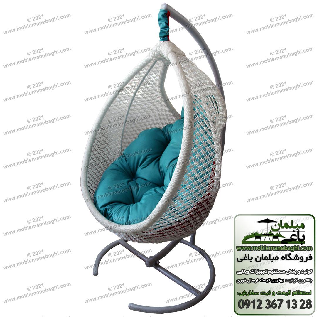 صندلی ریلکسی یا تاب ریلکسی مخصوص کنار استخر و فضای باز مدل مونیخ با بافت شیلنگی یو وی یا plp که بسیار مقاوم است با رنگ بدنه طوسی و تشک تاب ریلکسی آبی است با قابلیت دو رو بودن بسیار باکیفیت و مقاوم