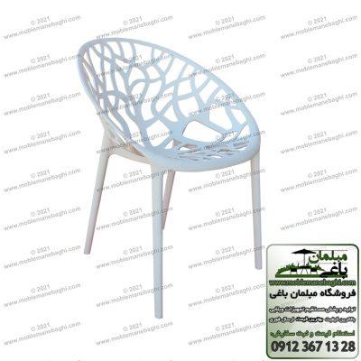 صندلی پلی کربنات مدل درختی یا مبلمان پلی کربناتی درختی از جنس پلیمر ویژه بسیار باکیفیت و شیک با رنک سفید و قابل ارائه با رنگ های متنوع دیگر در مرکز فروش صندلی پلی کربناتی و صندلی پلیمری