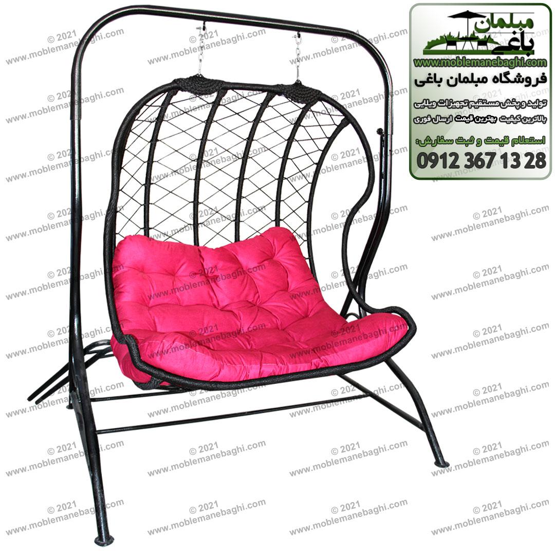 تاب ریلکسی و تاب باغی دو منظوره مدل لاکپشتی با صندلی راحت و نرم رنگ قرمز و بدنه مقاوم باکیفیت رنگ مشکی بسیار قیمت مناسب مخصوص باغ و تراس آپارتمان و فضای باز بسیار راحت و ریلکسی و باکیفیت و کاربردی